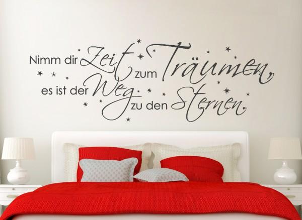 """Wandtattoo Zitat """"Nimm dir Zeit zu träumen..."""" W769"""