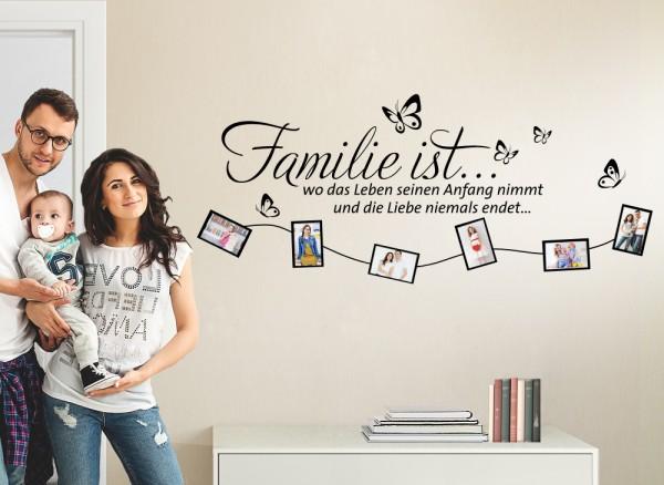 wandtattoo spruch familie wo das leben seinen anfang nimmt. Black Bedroom Furniture Sets. Home Design Ideas