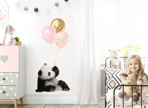 Little Deco Wandtattoo Panda mit Ballons DL527