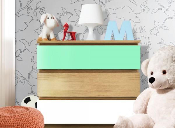 Möbelfolie 2-farbig mint, weiß W5351