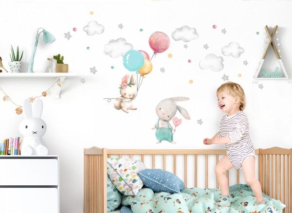 Little Deco Wandtattoo Hasen mit Luftballon DL602