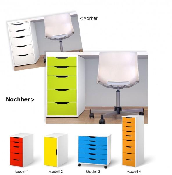 folienset f r ikea schr nke vika alex 4 modelle w758. Black Bedroom Furniture Sets. Home Design Ideas
