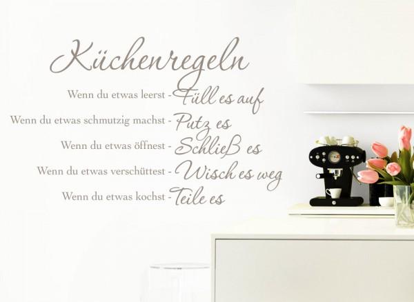 Wandtattoo Küchenregel W957