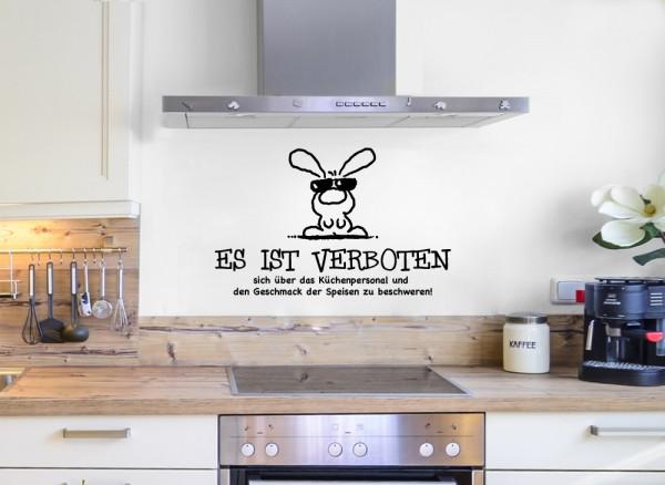 Wandtattoo Spruch Es ist verboten... + lustiger Hase W5045