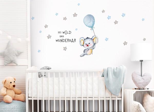 Little Deco Wandtattoo Sei wild & Koala mit Luftballon DL326
