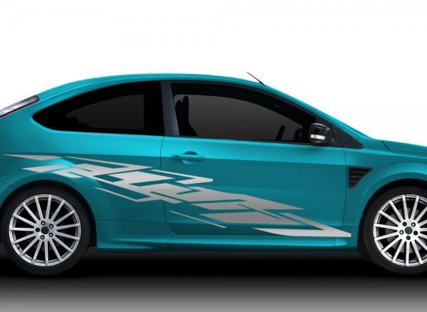 2er Set Autoaufkleber Racingstyle X7154