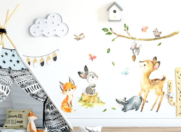 Little Deco Waldtiere Reh Hase Dachs DL552