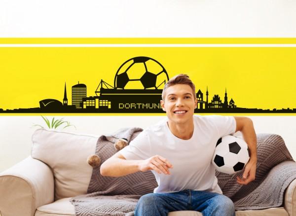 Wandtattoo Dortmund Skyline Fußball Fan W5070