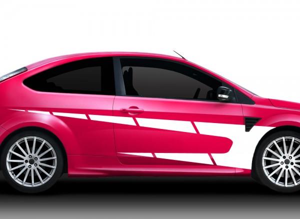 2er Set Autoaufkleber Racingstyle X7137