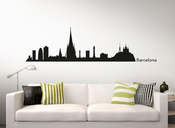 Wandtattoo Skyline Barcelona G157