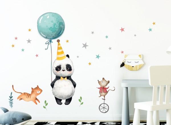 Little Deco Wandtattoo Panda Maus Katze & Sterne DL198