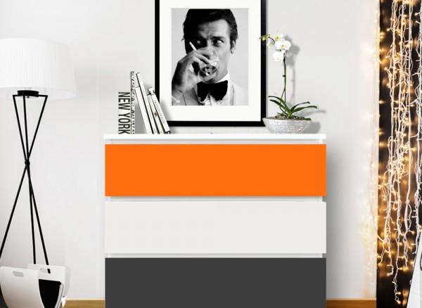 Möbelfolie 2-farbig orange, dunkelgrau W5334