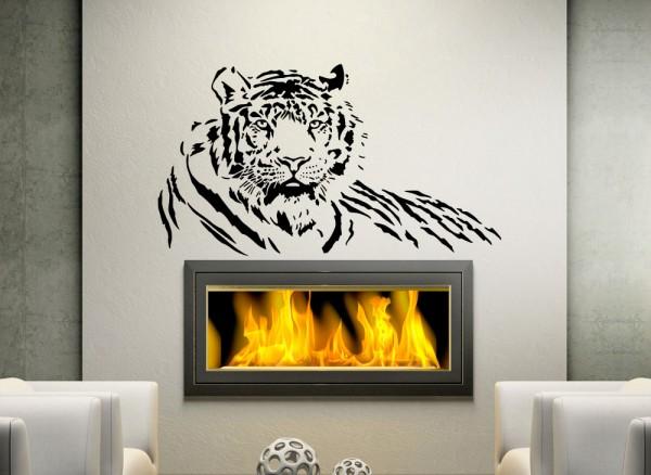 Wandtattoo Tiger liegend XXL W827