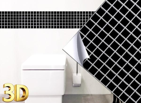 4x grandora 3d fliesenaufkleber schwarz w5201 for Fliesenaufkleber schwarz