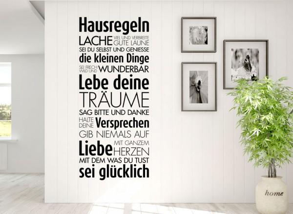 Wandtattoo Hausregeln W5452 | Sprüche & Zitate | Küche | Wandtattoos ...