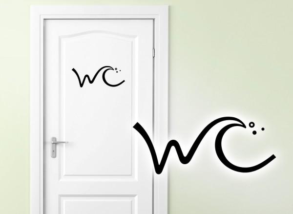 Wandtattoo WC Aufkleber Piktogramm W781