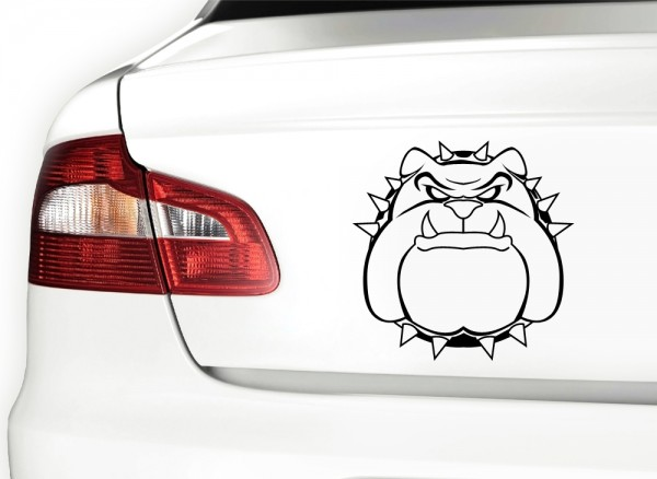 Autoaufkleber Hund Bulldogge X7073