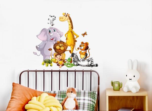 Little Deco Wandtattoo Motiv mit Dschungeltieren DL474