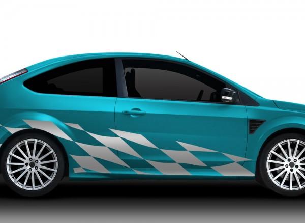 2er Set Autoaufkleber Racingstyle X7148