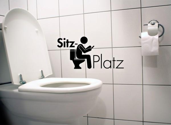 Wandtattoo WC Aufkleber Sitzplatz W979