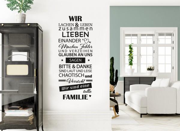 Wandtattoo Spruch Wir sind eine tolle Familie W5385