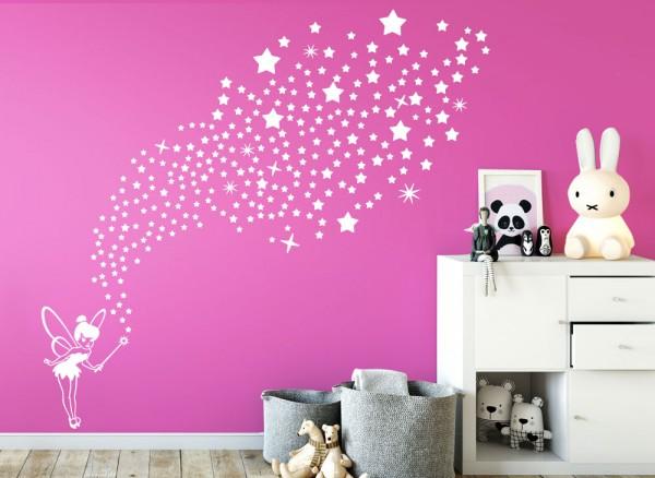 Wandtattoo Fee mit 266 Sternen W5435 | Mädchen | Kinderzimmer ...