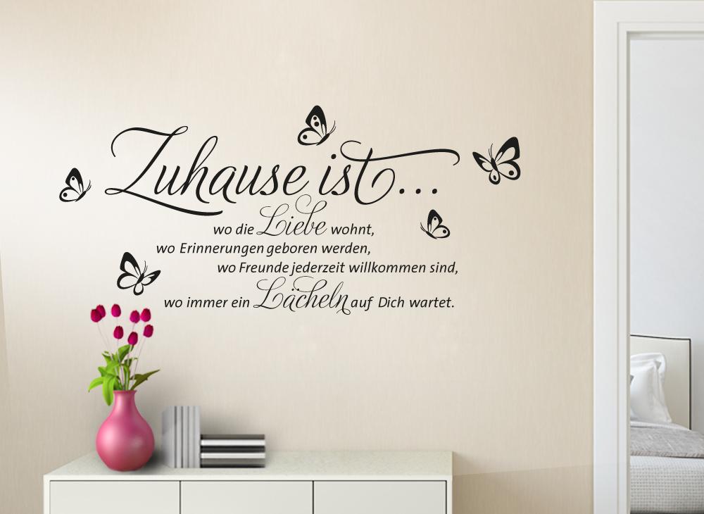 wandtattoo zitat zuhause ist w1133. Black Bedroom Furniture Sets. Home Design Ideas