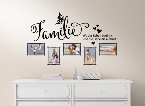 wandtattoo familie wo das leben beginnt und w5000. Black Bedroom Furniture Sets. Home Design Ideas