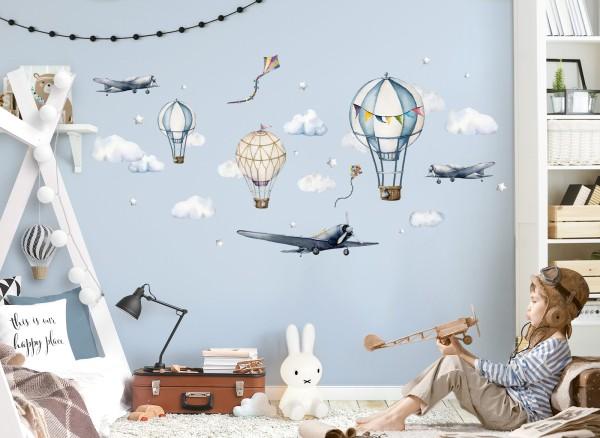 Little Deco Flugzeuge und Heißluftballons DL707