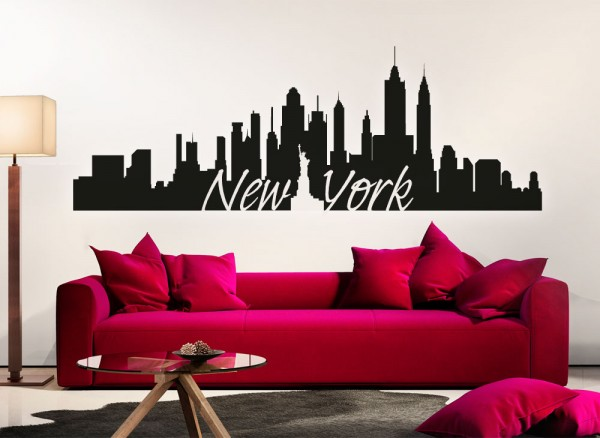 Wandtattoo Skyline New York G156