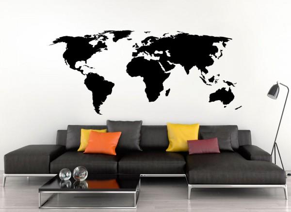 Wandtattoo Weltkarte W698