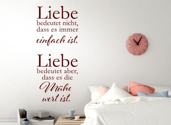 Wandtattoo Zitat Liebe bedeutet.. W3413