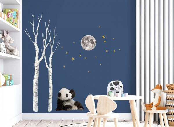 Little Deco Wandtattoo Panda & Mond DL662