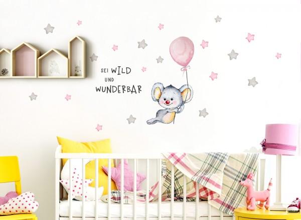 Little Deco Wandtattoo Sei wild & Koala mit Luftballon DL323