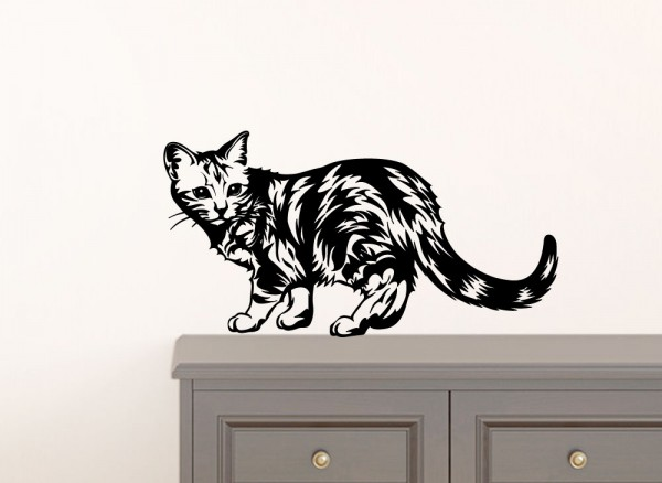 Wandtattoo Katze G097