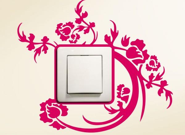 Schaltertattoo Blumenranke G126