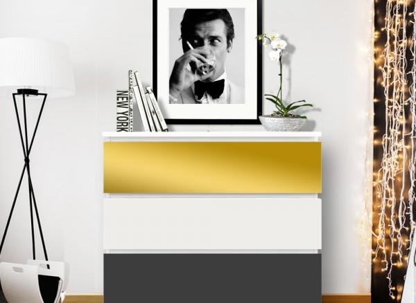 Möbelfolie 2-farbig gold, dunkelgrau W5336