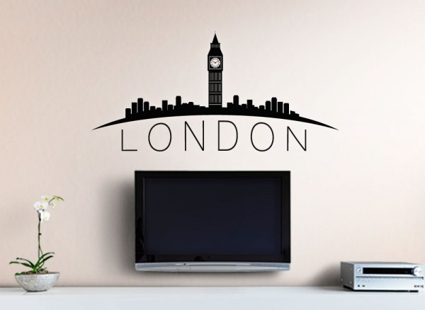 wandtattoo skyline london g150 panoramen skylines wandtattoos nach themen wandtattoos. Black Bedroom Furniture Sets. Home Design Ideas