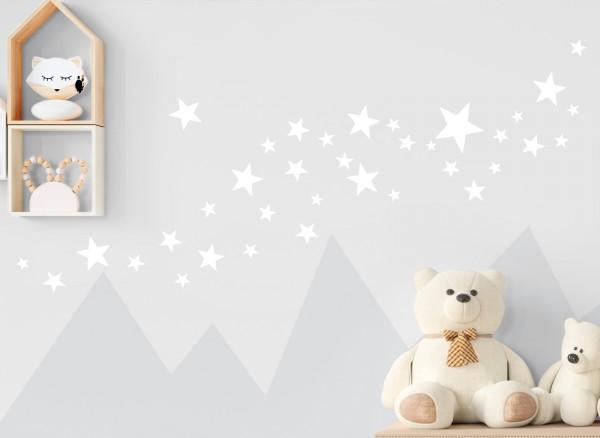Little Deco Wandtattoo 60 Sterne weiß DL407