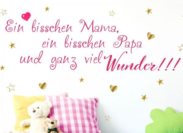 Wandtattoo 2-farbig Spruch Ein bisschen Papa... W5432