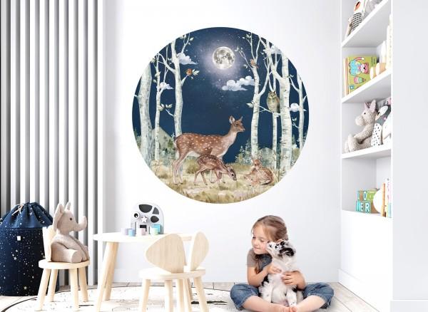 Little Deco Wandtattoo Reh Mond Nacht DL590