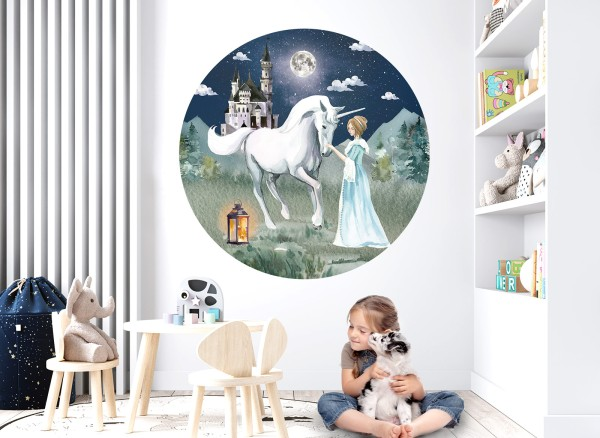 Little Deco Wandtattoo Prinzessin & Einhorn Nacht DL620