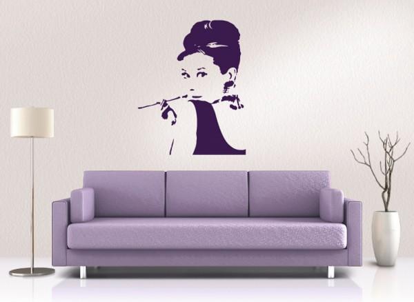Wandtattoo Audrey Hepburn W651