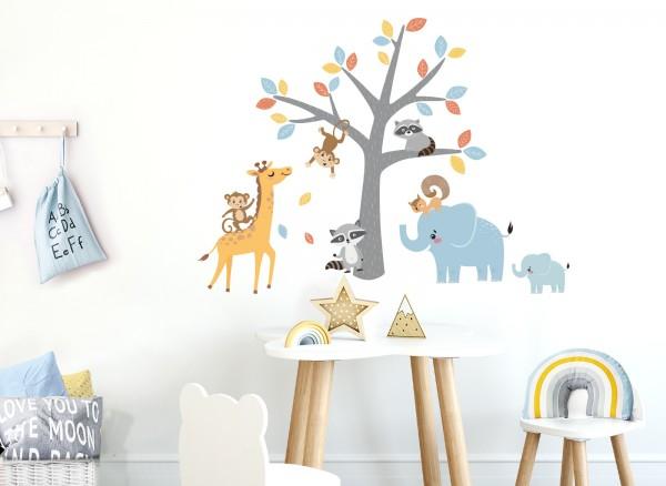 Little Deco Wandtattoo Tiere unter dem Baum DL521