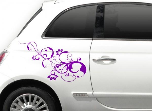 2er Set Autoaufkleber Blumenranke Alisia X9001