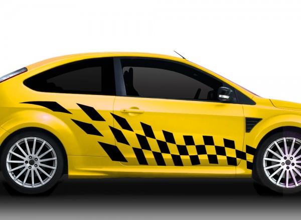 2er Set Autoaufkleber Racingstyle X7136