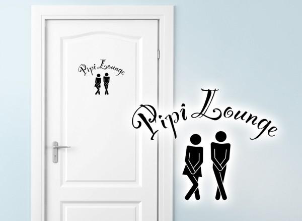 Wandtattoo Türaufkleber WC Pipi Lounge W685