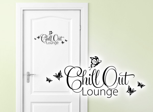 Wandtattoo Türaufkleber Chill Out Lounge W882