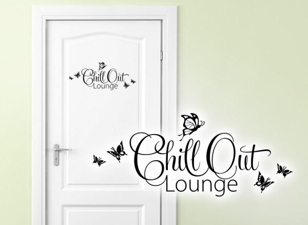 Wandtattoo Türaufkleber Chill Out Lounge W882