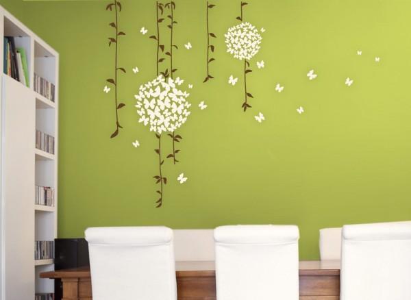 Wandtattoo Schmetterlingsranke 2-farbig W835 | Blumen & Ranken ...
